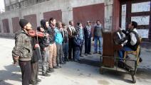 عازف البيانو ورفاقه في اليرموك (6/ 2/ 2014): لا لفقدان الذات (رامي السيّد/ وكالة الأناضول)