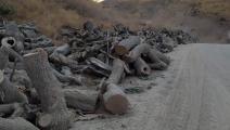 قطع أشجار في كردستان العراقي من قبل تركيا - تويتر