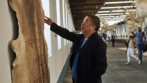 (الفنان الصيني آي ويوي في معرضه الجديد بلشبونة، Getty)