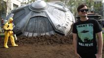 مجسم لطبق طائر في لوس أنجليس (توماسو بودي/ Getty)