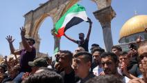 خاض الفلسطينيون معركة الدفاع عن شرف القدس والمسجد الأقصى (أحمد غرابلي/فرانس برس)
