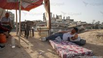 خيام فوق الركام في غزة (محمد الحجار)