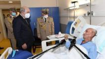 سياسة/تبون يزور إبراهيم غالي بالمستشفى/(فايسبوك)