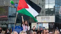 من فعاليات إضراب الداخل في 18 مايو الماضي في حيفا (ماتي ميلشتاين/Getty)