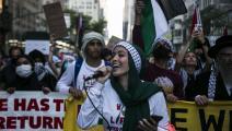حركة التضامن بدأت تغير في تفكير الأميركيين بشأن القضية الفلسطينية (بابلو مونسيف/Getty)