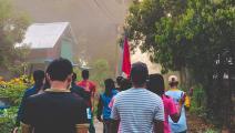 """ميانمار/مسيرة في لونغلون/صحيفة """"إيراوادي""""/تويتر"""