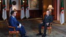 اللقاء مع الرئيس الجزائري عبد المجيد تبون