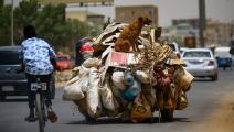 نفايات في الخرطوم في السودان (أشرف شاذلي/ فرانس برس)