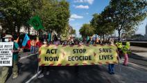 تظاهرة لحماية الأرض من التغير المناخي (فيكتور سيمانوفيتش/ Getty)
