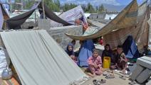 نازحون في خيم في أفغانستان (نور الله شيرزاده/ فرانس برس)