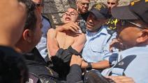 الأمن الإسرائيلي يعتقل شاب فلسطيني في القدس (أحمد غرابلي/ فرانس برس)