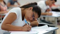 خلال إجراء الامتحانات في تونس (فتحي بلعيد/ فرانس برس)