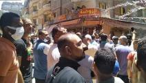 """المظاهرات تأتي احتجاجاً على قرار هدم المنازل وترحيل الأهالي إلى مساكن """"عبد القادر"""" (فيسبوك)"""