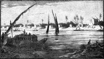 (رسم لمدينة الخرطوم عام 1900، Getty)