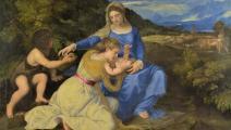 العذراء والطفل - تيتيان - القسم الثقافي