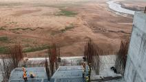 من أعمال البناء في سد النهضة الإثيوبي في 26/ 12/ 2019 (فرانس برس)