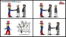 كاريكاتير اميركا وافغانستان / المهندي