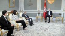 تونس/سعيد يلتقي الجمعية المهنية التونسية للبنوك والمؤسسات المالية/الرئاسة التونسية/فيسبوك