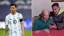 بسن 100 عام... عجوز أرجنتيني يتلقى أجمل رسالة من ميسي