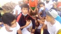 أطفال تونسيون في لامبيدوزا الإيطالية (فيسبوك)