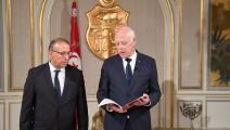 وزير الداخلية التونسي رضا غرسلاوي وسعيد (تويتر)
