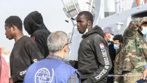 مهاجرون أفارقة وصلوا إلى العاصمة الليبية طرابلس (محمود تركية/ فرانس برس)