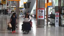 مطار هيثرو في لندن وسط كورونا (دانييل ليل-أوليفاس/ فرانس برس)