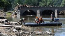 بعضٌ من آثار الدمار الناتجة عن الفيضانات (كريستوف ستاش/ فرانس برس)