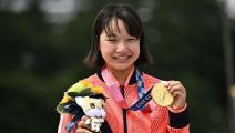"""""""السكايت بورد"""" الأولمبية: ميدالية ذهبية ليابانية بعمر الـ13 سنة"""