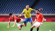"""كرة القدم """"الأولمبية"""": البرازيل تُسقط مصر وتُقصيها من ربع النهائي"""
