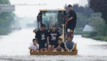 فيضانات الصين (كوي نان/Getty)