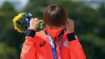 الاحتفال بالميدالية بدون كمامة... 30 ثانية في أولمبياد طوكيو