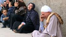 أقارب مصريين محكوم عليهم بالإعدام (فرانس برس)
