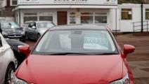 معرض للسيارات في بريطانيا (أدريان دينيس/ فرانس برس)