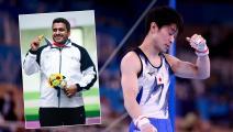 """أولمبياد طوكيو: خروج الملك الياباني في """"الجمباز"""" وميدالية إيرانية"""