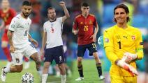 """نجوم ربع نهائي """"يورو 2020""""... التشكيلة المثالية في الملعب"""