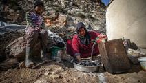 كميات مياه قليلة متوافرة للفرد في مخيمات إدلب (محمد سعيد/ الأناضول)