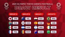 كرة القدم في أولمبياد طوكيو 2020: 4 مجموعات ومواجهات قوية