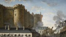 رسمة لمواجهات بالقرب من قلعة باستيل