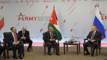 العاهل الأردني مع الرئيس الروسي