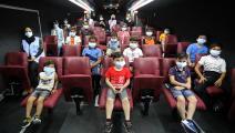 باص السينما في قطاع غزة (الأناضول)