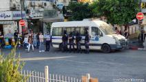 الأمن الفلسطيني يغلق دوار المنارة