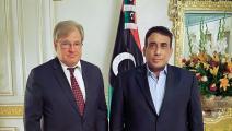 ريتشارد نورلاند ومحمد المنفي - ليبيا - فيسبوك