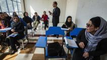 """""""طالبان"""" ترفض تعليم أساتذة طالبات الجامعات (Getty)"""