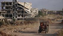 جرار في درعا في سورية (محمد أبازيد/ فرانس برس)