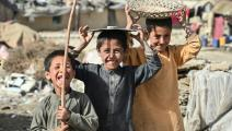 أطفال نازحون في أفغانستان (أديك بيري/ فرانس برس)