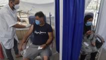 في أحد مراكز التطعيم في الجزائر (رياض كرامدي/ فرانس برس)