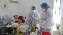 مستشفى في تونس وسط كورونا (ياسين قايدي/ فرانس برس)