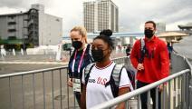"""الجمباز """"الأولمبية"""": الأميركية بايلز تعود إلى نهائي عارضة التوازن"""