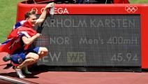 سباق 400 متر حواجز: نروجي يحطم الرقم العالمي ويُحقق الذهبية